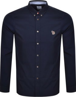 PS By Paul Smith Long Sleeved Tailored Shirt Navy