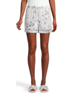 Ann Taylor Factory Floral Piped Silky Pajama Shorts