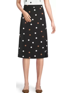 Ann Taylor Factory Petite Dotted Side Slit Skirt