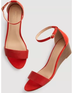 Ann Taylor Factory Ankle Strap Wedge Sandals