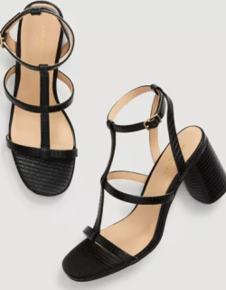Ann Taylor Factory Embossed Strappy Block Heel Sandals