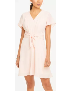 Ann Taylor Tie Front Flare Dress