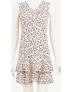 Ann Taylor Petite Dotted Fluted Sheath Dress
