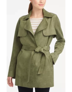 Ann Taylor Faux Suede Trench Coat