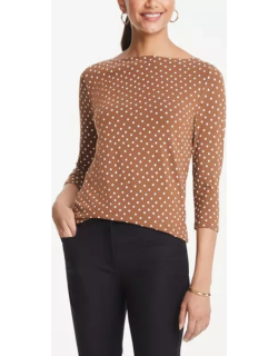 Ann Taylor Dotted Boatneck Tee