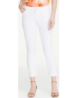 Ann Taylor Petite Straight Crop Jeans in White