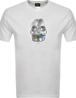 PS By Paul Smith Skull T Shirt White