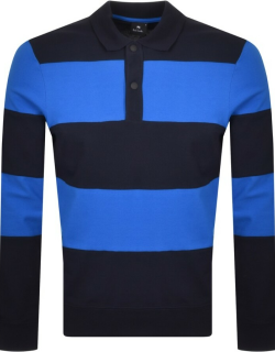 PS By Paul Smith Long Sleeve Polo T Shirt Navy