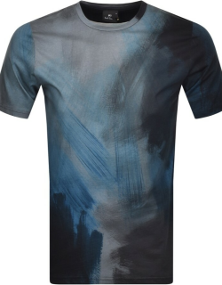 PS By Paul Smith Paint Stroke T Shirt Blue