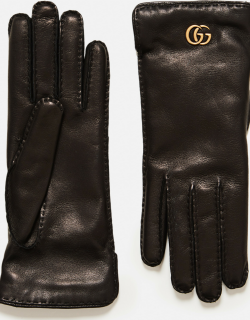 Gucci Leather gloves with Double G