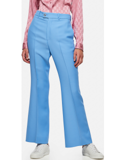 Gucci Short flare trousers in wool and silk