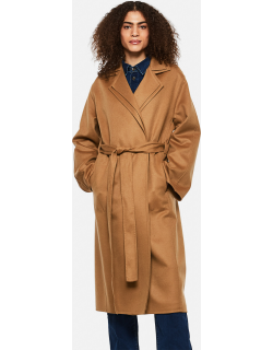 Loewe Wool and cashmere Double layer coat with belt