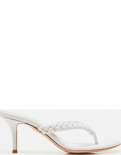 Gianvito Rossi Braided leather thong sandals