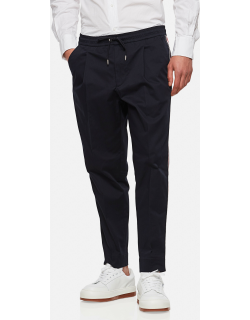 Moncler Cropped cotton trousers with drawstring