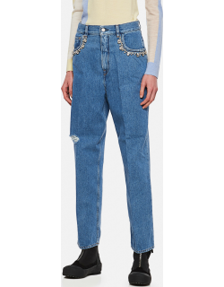 Golden Goose Kim jeans in denim with applied crystals