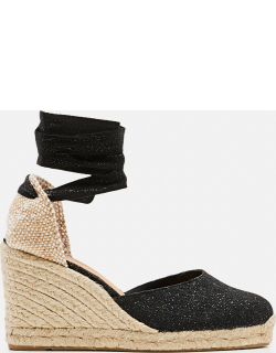 Castaner Carina espadrille in canvas with 9 cm wedge