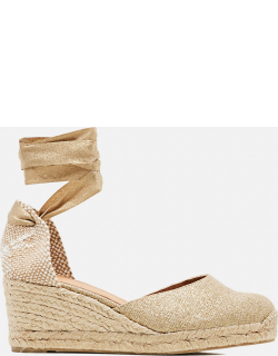 Castaner Carina espadrilles in linen with 7cm wedge