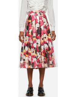 Comme des Garcons Minnie Mouse flared skirt with print