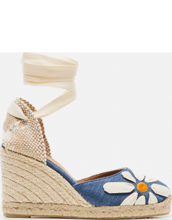 Castaner Candace linen espadrilles with wedge 9cm