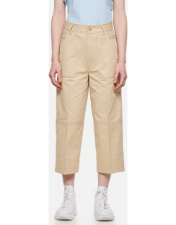 Moncler Cropped trousers in cotton gabardine