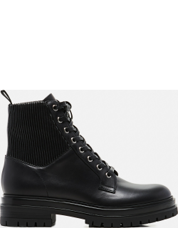 Gianvito Rossi MARTIS 20 ECO-STRETCH AND LEATHER COMBAT BOOTS