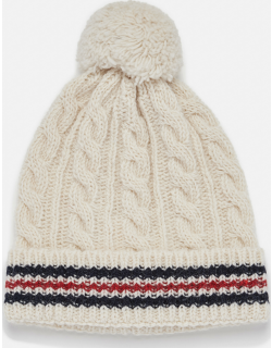 Thom Browne KNIT MOHAIR AND WOOL BEANIE