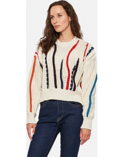 Golden Goose Journey Collection Dasha sweater with macro colored inlays