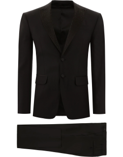 DSQUARED2 LONDON FIT SUIT WITH CRYSTALS 50 Black Wool