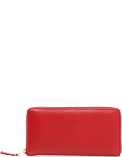 COMME DES GARCONS WALLET ZIP AROUND WALLET OS Red Leather