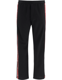 DSQUARED2 JOGGER PANTS WITH SIDE BANDS XS Black, Red Cotton