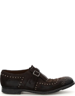 CHURCH'S SHANGHAI MONK SHOES WITH STUDS 5 Brown Leather