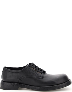 DOLCE & GABBANA DERBY LACE-UP SHOES 40 Black Leather