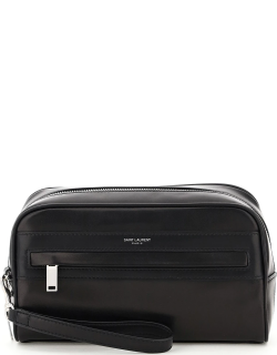 SAINT LAURENT POUCH ROOM IN LEATHER OS Black Leather