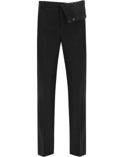 Y PROJECT TROUSERS WITH ASYMMETRIC WAIST S Black Wool