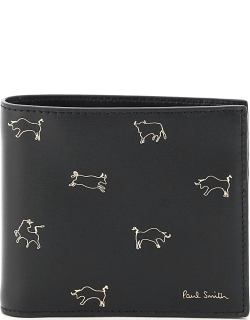 PAUL SMITH LUNAR NEW YEAR PRINT WALLET OS Black, Gold Leather
