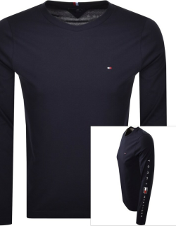 Tommy Hilfiger Essential Long Sleeve T Shirt Navy