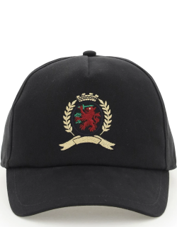 TOMMY HILFIGER COLLECTION BASEBALL CAP WITH CLASSIC EMBLEM EMBROIDERY OS Black Cotton