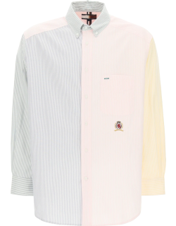 TOMMY HILFIGER COLLECTION ITHACA STRIPED SHIRT S Blue, Yellow, Pink Cotton