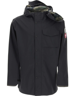 Y PROJECT CANADA GOOSE HOODED RAIN JACKET L Black Technical