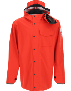 Y PROJECT CANADA GOOSE HOODED RAIN JACKET S Red Technical