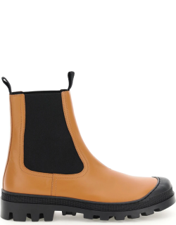 LOEWE CHELSEA BOOTS 40 Brown Leather