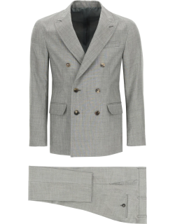 GM77 DOUBLE-BREASTED COTTON SUIT 48 Grey Cotton