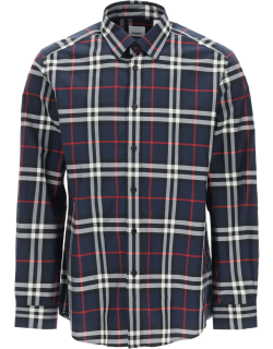 BURBERRY CAXTON CLASSIC SHIRT S Blue, White, Red Cotton
