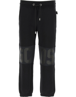 GCDS JOGGERS WITH LOGO BANDS S Black, Blue Cotton