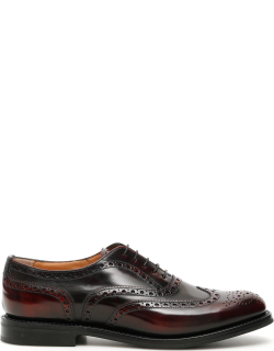 CHURCH'S BURWOOD LACE-UPS 40 Brown, Red Leather