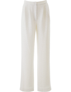 IN THE MOOD FOR LOVE SEQUINED PALAZZO PANTS S White