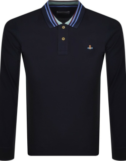 Vivienne Westwood Long Sleeved Polo T Shirt Navy