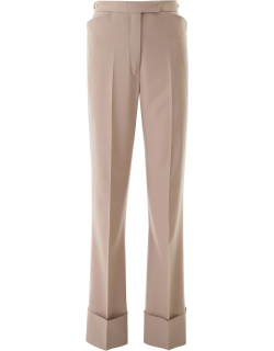LEMAIRE WIDE LEG TROUSERS 36 Beige, Grey