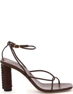 NEOUS ANDROMEDA LEATHER SANDALS 38 Brown Leather