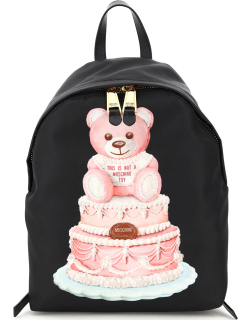 MOSCHINO CAKE TEDDY BEAR BACKPACK OS Black, Pink Faux leather